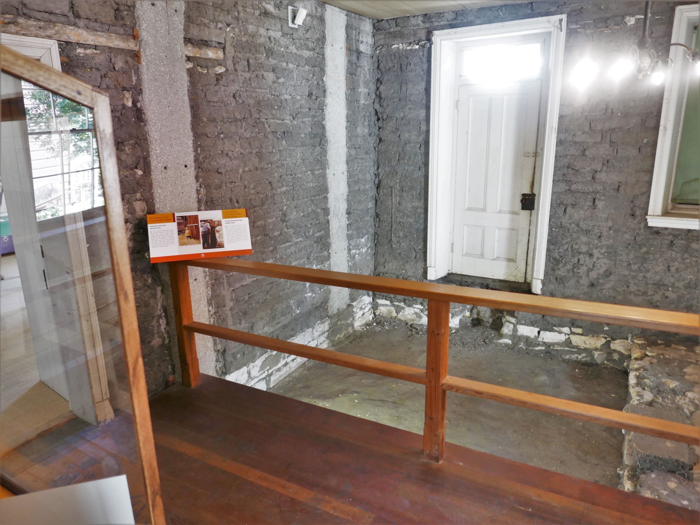 """Archaeology Room Exhibit showing the foundation of """"Carmel Stone"""" 2018 © The National Trust for Historic Preservation:"""