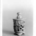 "Bone or Ivory piece 1"" high Photo by Marcia deVoe 1981"