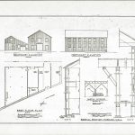 Architectural drawing of the Barns at Cooper Molera from the Cooper Molera Archives