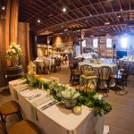 Inside the Barns for a wedding reception