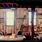 Inside the Barns, during re-construction1987 Charles M Bancroft