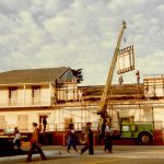 Removing parapet during CA state parks 1979 renovations