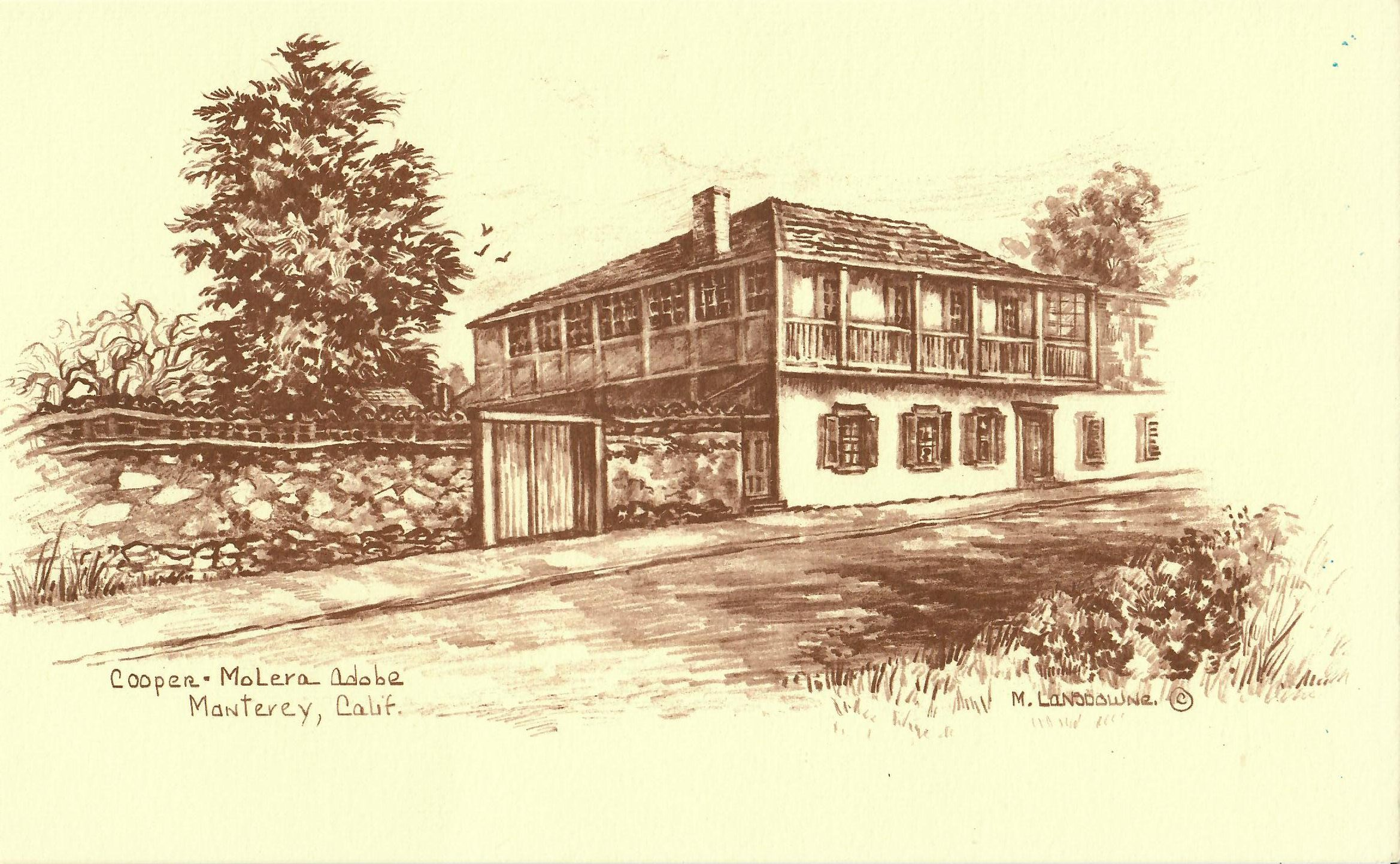 Cooper drawing by M.Lansdowne given to CMA by Harish Joshi