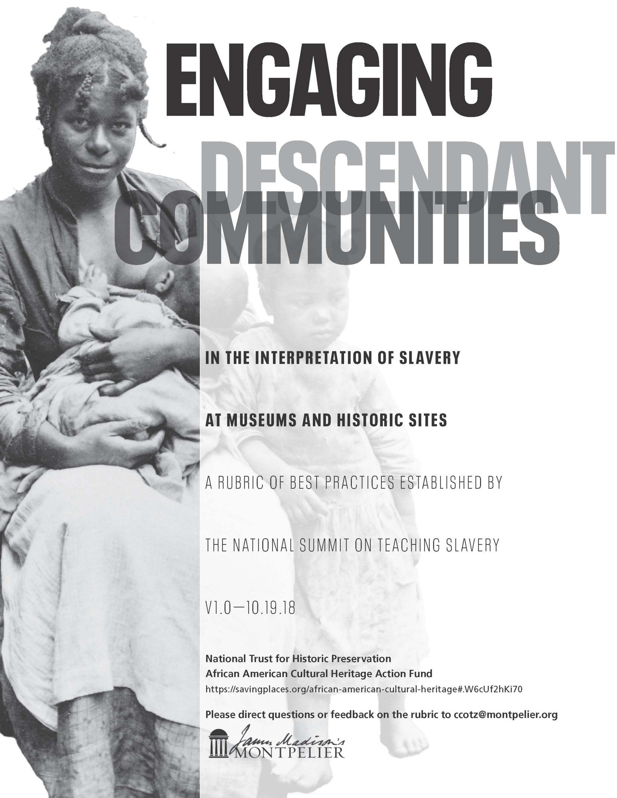 Engaging Descendant Communities Rubric 1