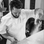 Head Shef and Alta Group Partner Ben Spungin at work in the kitchen of Alta Bakery